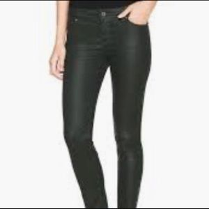 WHBM Coated Ankle Jeans